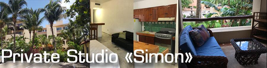 Private accommodation at Studio Simon in Puerto Aventuras, Riviera Maya, Quintana Roo with Planet Scuba Mexico